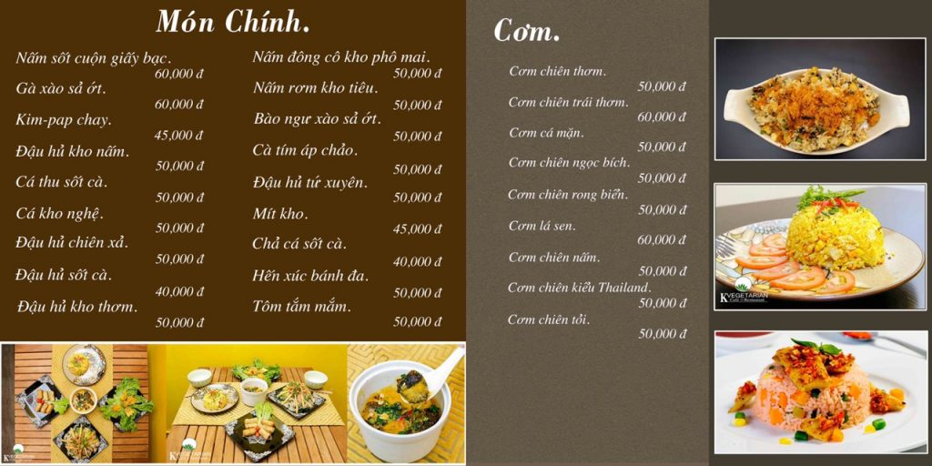 menu món chính